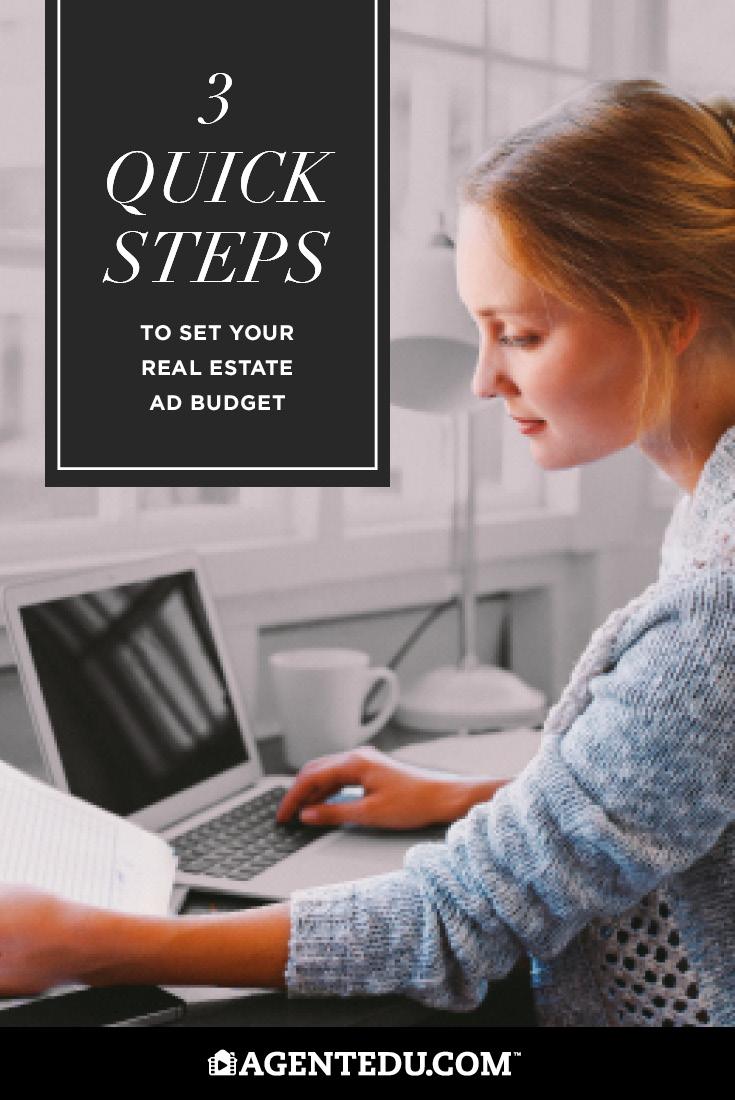 3 Quick Steps to Set Your Real Estate Ad Budget | AgentEDU.com