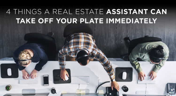 real estate assistants working together